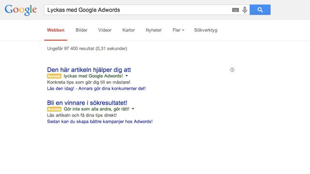 Lyckas med Google Adwords