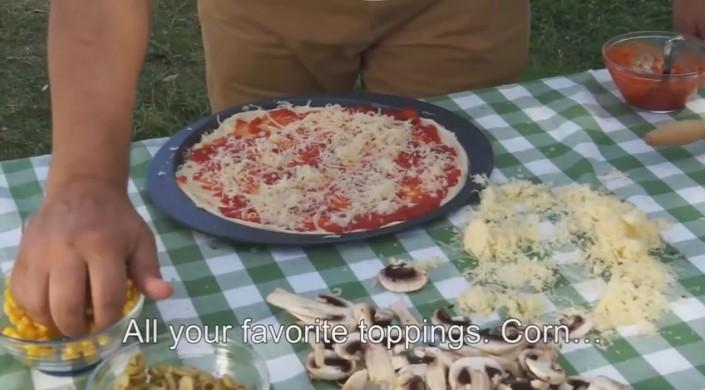 pizza i bilen
