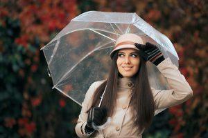 genomskinligt paraply